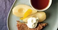 Almond Torte with Pears and Whipped Cream Recipe