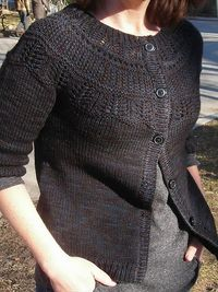 Ravelry: Project Gallery for 113-17 jacket with raglan sleeve and pattern on yoke in �€Silke Alpaca�€ Free written pattern by DROPS design attached