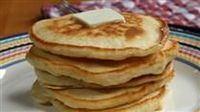 Easy quick delicious pancakes. I use 1/2 whole wheat flour