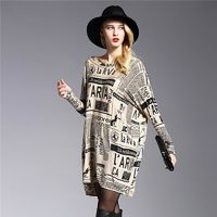 Stylish Long Sleeve Vintage Patterned Pullover Sweater $28.99