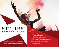 Entire Productions is the best event planning company offering corporate event planning with expertise planners to organize special events located in San Francisco.