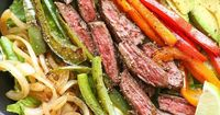 Steak Fajita Salad with cilantro lime dressing | 21 Colorful Meals To Get You Excited To Eat Healthy