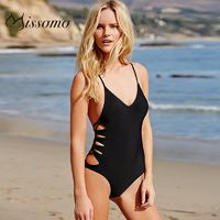 Sexy Hollow Out Curvy V-neck Swimsuit - Bonny YZOZO Boutique Store