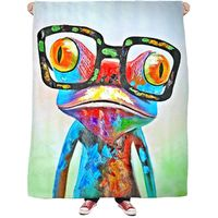 ROFB Abstract Frog Fleece Blanket $65.00