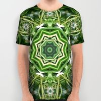 All over print spider plant kaleidoscope t-shirt.
