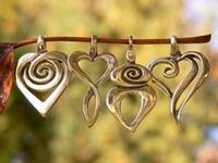 These jewelry necklaces, earrings and pendants are hand-crafted symbolic designs from K Robins Designs