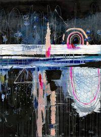 Blue Abstract by Anahata Katkin, for Brickroom Restaurant, Ashland, OR,