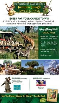 Enter The Jungle Book Diamond Edition Jumpin' Jungle Sweepstakes