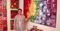Wanda Hanson is a quilter from the Chicago area that has world renowned work. She presented her work in the month of June at Ciel Gallery in Charlotte North Car