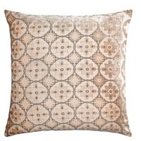 Latte Small Moroccan Velvet Pillow by Kevin O'Brien Studio $311.00