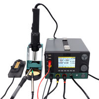 DES H95 5 in 1 Soldering Station SMD Maintenance Rework Station Soldering Iron Vacuum Sunction Station with Regulated Power Supply