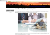 Real estate agents work with buyers who are taking out loans. It is rare that they get clients paying for a house in cash. This is where loan officers come into the picture.  http://all4webs.com/webuyhouse
