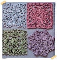 Crochet Charts... http://creationsbyeve.blogspot.com/2010/09/granny-squares.html