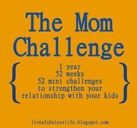 "The Mom Challenge....""there is no way to be a perfect mother, but a million ways to be a good one."""