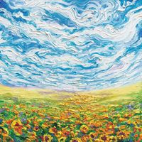 "Big Sky, Small Sunflowers Art Print by Iris Scott �€"" iCanvas"