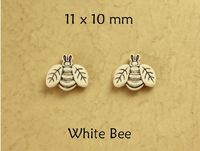 Children's White Bee Cute Magnetic Earrings $18.00 Designed by LauraWilson.com