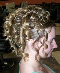 curly updos pictures photo