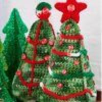 Crocheted Christmas Tree Duo | FaveCrafts.com
