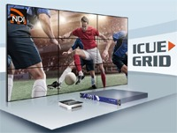 Teracue    ICUE-GRID  ICUE-GRID is an IP Video Wall Presenter for multiple content sources within the video wall. It allows complete on-the-�'y control over the visualised live and/or on-demand content in any resolution.