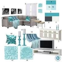 1- 16�—20 framed photos of children in black and white. $13.99/each at Walgreens and often there is a promo code. Could paint frames Benjamin Moore Cool Aqua 205