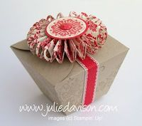 Tutorial to turn Stampin' Up! Petal Cone Die into a Take-Out Style Box -- by Julie Davison, http://juliedavison.com