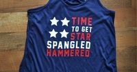 Women's 'Star Spangled Hammered' Red White and Blue Drinking Tank Top
