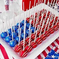 Mommy and Things: Flag Cake Pops =================================