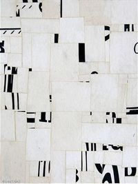 Suprematist Non-Objective Poetry FS1987CT03 by Cecil Touchon 12x9 inches collage on paper