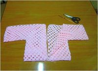 Crochet patterns: Crochet Granny Square Style Baby Cardigan - Pattern and Photos