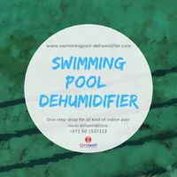 Swimming pool dehumidifier for indoor pool rooms to reduce moisture. #Dehumidifier #Humidity #SwimmingPool #IndoorPool