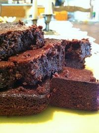 Almond Flour Brownies 2/3 cup honey 1/2 cup melted butter or coconut oil 1 Tbsp. vanilla extract 3 eggs 1 cup almond flour 1/2 cup cocoa (I used raw cacao) 1/4 tsp. baking soda (this can be omitted) 1/4 tsp. sea salt (omit if using sal...