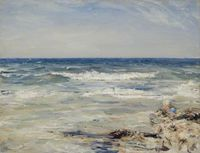 A June Day Crab Catching by William McTaggart - The one I saw today was a similar title with Machrihanish instead of Crab Catching... close tho :)
