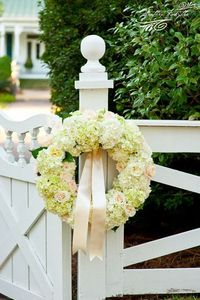 beautiful floral wreath by Luke Wilson Special Events