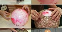 DIY twine laterns made with balloons