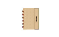 Kraft Wiro Notebook with Ruled Pages consists of a Sticky Notes in different sizes, Page Markers in multicolor and a ruled notebook.It has a magnetic flap open design. The front cover of the wiro notebook is completely customizable for this product. Custo...