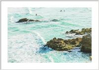 Modern Seas Framed Prints | Nature landscape photography on submerged island rocks and sea swells. Taken: Main Beach, Point Lookout, North Stradbroke Island, Queensland, Australia | #contemporaryart #moderndecor #beachhome #framedprint #walldecor #modernb...