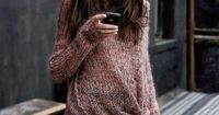 Vanessa Moreira by Dan Martensen - superlong loose knit sweater like this with that knit. Yup.
