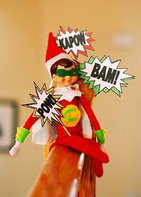 Superhero Chippy #Elf on the shelf