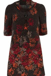 Dorothy Perkins Womens Izabel London Multi Red Floral Print Multi red floral print knitted dress with a cowl neckline 3/4 sleeves and unfastened. Length 83cm. 94% Polyester,6% Elastane. Cold hand wash. Dry cleanable. http://www.comparestoreprices....