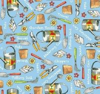Quilting Treasures Fabric / Gardening / Who Let The Hogs Out $8.99