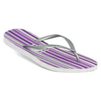 Havaianas - Slim Stripes - White / Purple Slim Flat Footbed Bright Striped Pattern Metallic Straps Odour Free  Click here for our Size Info Click here for our Delivery Info Click here for our Returns Info http://www.comparestoreprices.co.uk//havaianas--...