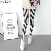 $4.27 Aliexpress - Black and White Vertical Striped Printed Women Leggings Fashion Casual Elasticity Ankle-Length Pant Female Fitnes Legging. Buy it from Aliexpress.com