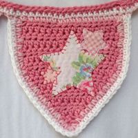 pink stars bunting by Ruby and Custard
