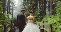romantic and fairytale wedding gown walking in an enchanted forest #weddingdress