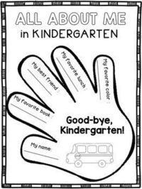 End of the Year Activities - Kindergarten:This product contains end of the year activities designed for kindergarten. The students will complete several writing prompts, then staple the pages together to create a memory book.Pages included:* All About Me ...