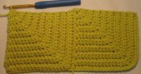 Hooked on Needles: Mitered Squares Baby Blanket -- Crocheted - try it as a scarf?