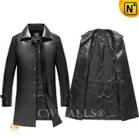 CWMALLS® Sydney Custom Men Leather Trench Coat CW808026 [Patented Product, Global Free Shipping]