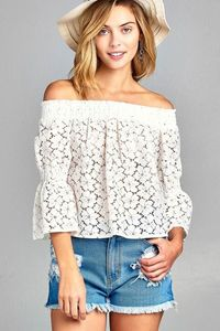 Women's 3/4 Three Quarter Long Sleeve Off Shoulder $37.80