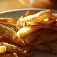 "Best Baked French Fries | ""I have made oven fries many times, but never used the sugar trick. I have to say, it makes a big difference in crispness! So, thanks so much for that little tip that makes a huge difference in the taste and texture of these ..."