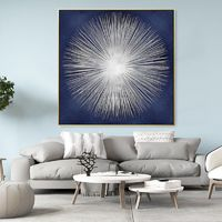 Modern art abstract Paintings on canvas Original texture agate acrylic Silver and Blue painting framed wall art pictures cuadros abstractos $140.00